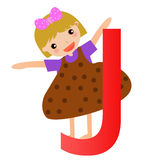 Alphabet letter J(girl) Stock Images