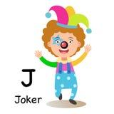 Alphabet Letter J-joker,vector. Illustration Stock Photos