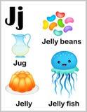 Alphabet letter J pictures vector illustration