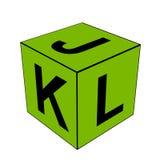 Alphabet letter JKL dice Stock Photo