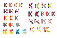 Alphabet letter K royalty free illustration