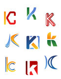 Alphabet letter K Stock Photos