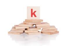Alphabet - letter K Royalty Free Stock Photos