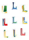Alphabet letter L Stock Images