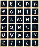 Alphabet Letter Letters Blackboard Isolated Royalty Free Stock Images