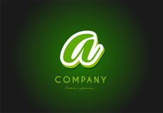 A alphabet letter logo green 3d company vector icon design Royalty Free Stock Images