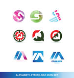 Alphabet letter logo icon set Royalty Free Stock Photos