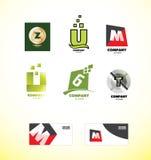 Alphabet letter logo set Stock Image