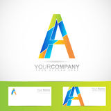 Alphabet letter A logo Royalty Free Stock Photos