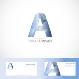 Alphabet letter A logo Stock Images