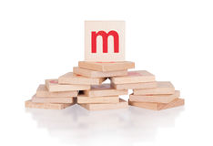 Alphabet - letter M Royalty Free Stock Images