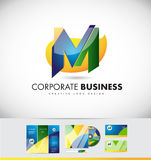 Alphabet letter M logo icon design Royalty Free Stock Image