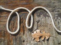 Alphabet Letter M Rustic Western Rope Stock Photography