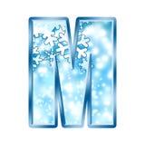 alphabet letter m winter Στοκ φωτογραφία με δικαίωμα ελεύθερης χρήσης