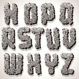 Alphabet Letter Made from Old Cracked Stone Vector Royalty Free Stock Photos