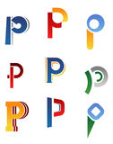 Alphabet letter P Stock Photography