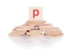 Alphabet - letter P Stock Photo