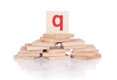 Alphabet - letter Q Stock Image