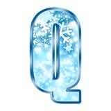 alphabet letter q winter Απεικόνιση αποθεμάτων