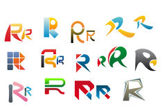 Alphabet letter R Royalty Free Stock Images