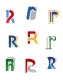 Alphabet letter R Stock Images