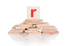 Alphabet - letter R royalty free stock image