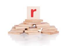 Alphabet - letter R Royalty Free Stock Image