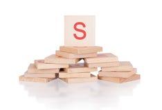 Alphabet - letter S Stock Photos