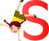 Alphabet letter S(girl) Stock Images