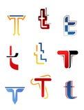 Alphabet letter T Stock Image