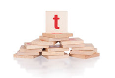 Alphabet - letter T Royalty Free Stock Photography