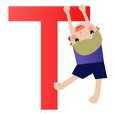 Alphabet letter T(boy). Alphabet letter (boy version), also checkout the girl version vector illustration
