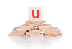 Alphabet - letter U Royalty Free Stock Photo