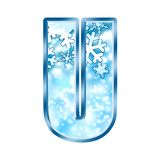 alphabet letter u winter διανυσματική απεικόνιση