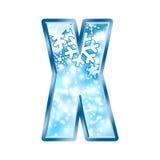 alphabet letter winter x Στοκ φωτογραφίες με δικαίωμα ελεύθερης χρήσης