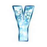alphabet letter winter y διανυσματική απεικόνιση