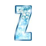 alphabet letter winter z Στοκ εικόνα με δικαίωμα ελεύθερης χρήσης