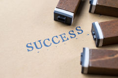 alphabet letter word success from stamp letters font on paper fo Stock Photos