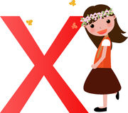 Alphabet letter X(girl) Royalty Free Stock Photos