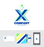 Alphabet letter x logo Royalty Free Stock Images