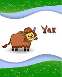 Alphabet letter Y and yak. With a colored background Stock Photography