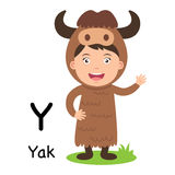 Alphabet Letter Y-yak,vector. Illustration Stock Images