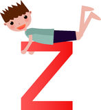 Alphabet letter z(boy) Royalty Free Stock Photos