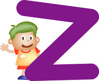 Alphabet letter Z (boy) Stock Photo