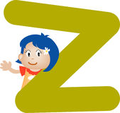 Alphabet letter Z (girl) Stock Image