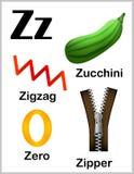 Alphabet letter Z pictures stock illustration