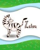 Alphabet letter Z and zebra Stock Photo