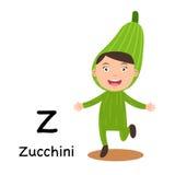 Alphabet Letter Z-zucchini,vector Stock Photos