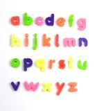 Alphabet letters. Colourful fridge magnet alphabet letters Stock Photo