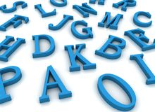 Alphabet letters Royalty Free Stock Photos